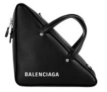 Triangle Shoulder Bag Leather Black Tasche