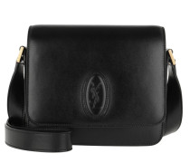 Umhängetasche LE 61 Small Saddle Bag Smooth Leather Black schwarz