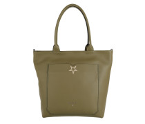 Upright Shopping Bag Star Daily Green Tote
