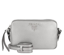 Logo Crossbody Bag Calf Leather Cromo Tasche