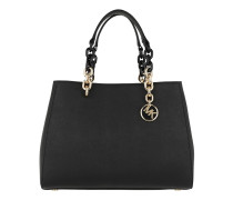Cynthia MD Convertible Satchel Bag Black Tote