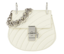 Drew Bijou Mini Quilted Leather Natural White Tasche