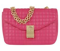 Umhängetasche C Bag Medium Quilted Calfskin Pink pink