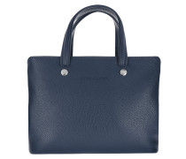 Tote Le Foulonné Handle Bag Leather Navy marine