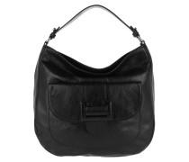 Hobo Bag Calf Figo Hobo Bag Black/Nickel schwarz