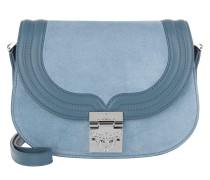 Trisha Suede Small Shoulder Bag Blue Tasche