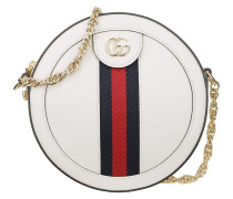Umhängetasche Ophidia Mini Round Shoulder Bag Leather White