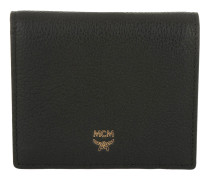 Milla Two Fold Mini Wallet Black Portemonnaie gold