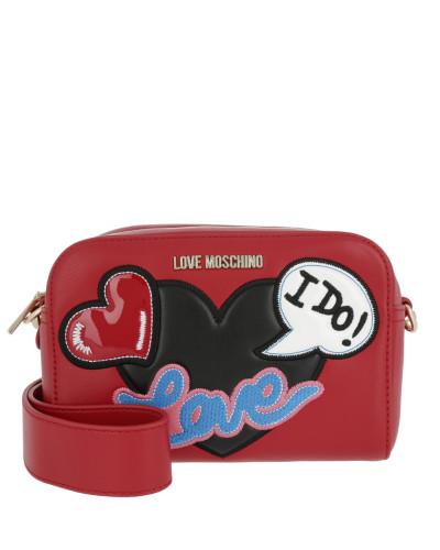 Moschino Damen Logo Love Crossbody Bag Rosso Tasche Günstig Versandkosten Erschwinglich Günstig Online Verkauf Besuch Neu  Wie Viel HPsyv6