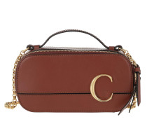 Umhängetasche C Vanity Mini Crossbody Bag Smooth Leather Sepia Brown