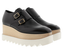 Elyse Platform Buckle Shoes Black Sneakers