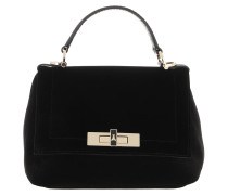 Satchel Bag Velvet Handle Black