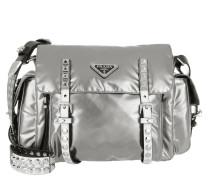 Shoulder Bag Metallic Nylon Ferro/Nero Satchel Bag