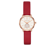 Uhr MK2787 Portia Ladies Leathers Watch Roségold rot