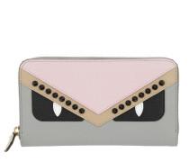 Zip Around Wallet Leather Light Pink