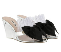 Sandalen Clear Bow Sandals Silver/Black silber