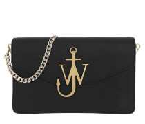 Logo Purse With Chain Black Umhängetasche