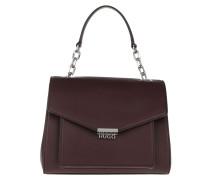 Satchel Bag Victoria Top Handle Open Red rot
