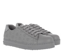 W Embo LT Logo Sneakers Silver Shadow