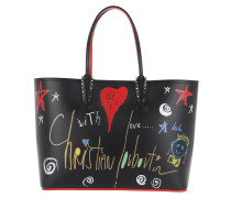 Heart Star Studded Tote Black