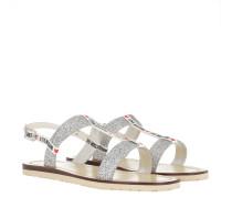 Sandalen Sandal Glitter Argento