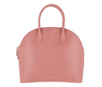 Top Handle Zipped Tote Calf Leather Blush/Blush Tote