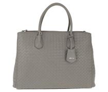 Tote Nappa Piuma Handle Bag Zinc grau
