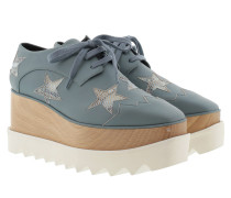 Elyse Platform Shoes Blue Star Sneakers