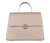 Genoveva M Handbag Stone Grey Satchel Bag