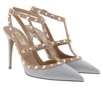 Rockstud Ankle Strap Pump Pastel Grey/ Poudre Pumps beige