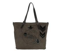 Stemmi Shopper Large Cotton+Leather Grigio Shopper braun