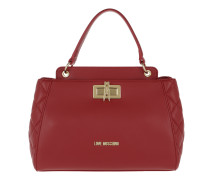 Quilted Nappa Pu Tote Rosso Tasche