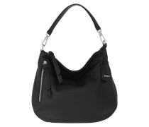 Hobo Bag Juna Small Black/Nickel