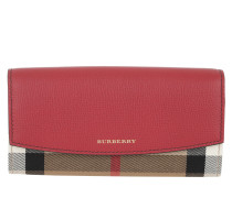 LS Porter Horseferry Check Wallet Russet Red  rot