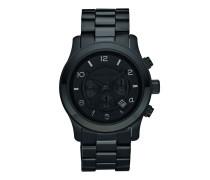 Uhr MK8157 Runway Chronograph Watch Blackout schwarz