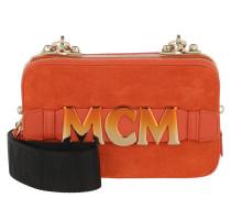 Cubism Suede Crossbody Bag Mini  Dust Tasche