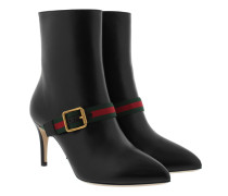 Ankle Boots Smooth Black Leather Black Schuhe