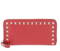 Rockstud Zip Around Wallet Red Portemonnaie