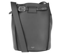 Beuteltasche Big Bucket Bag Leather Grey grau