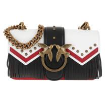Mini Love Tricolor Crossbody Bag Bianco/Rosso/Nero Tasche