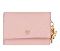 Otti Charm Flap Wallet Tri-Fold Small Pink
