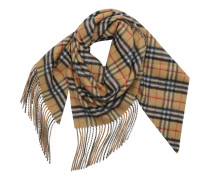Accessoire Checked Scarf Cashmere Sandstone beige