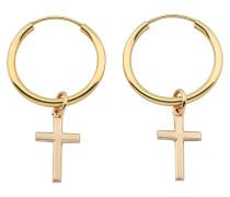 Ohrringe Hoops X Cross Earrings Gold