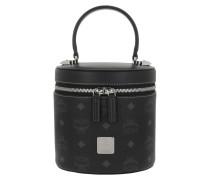 Satchel Bag Cylinder Visetos Small Crossbody Black