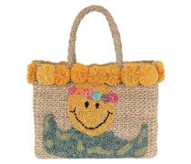 July Smiley Basket Natural Umhängetasche