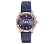 Optik Classic Blue Rosegold Watch Armbanduhr