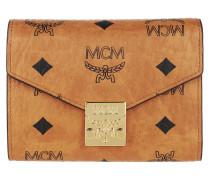 Portemonnaie Patricia Visetos Tri Fold Flap Wallet Cognac