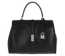 Satchel Bag Medium 16 Satinated Calfskin Black