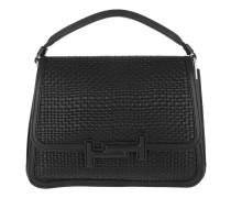 Woven Double T Satchel Bag Leather Black Satchel Bag