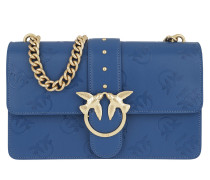 Love Imprime Shoulder Bag Blu Forte Satchel